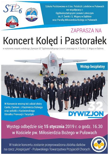 Koncert Kolęd i Pastorałek Szkoły Lotniczej  z Dęblina